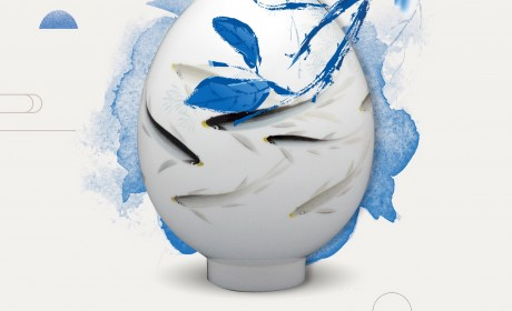陶瓷元素大气背景素材